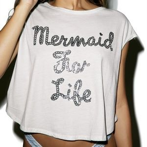 NWT Iron Fist Mermaid For Life Crop Tee Size S